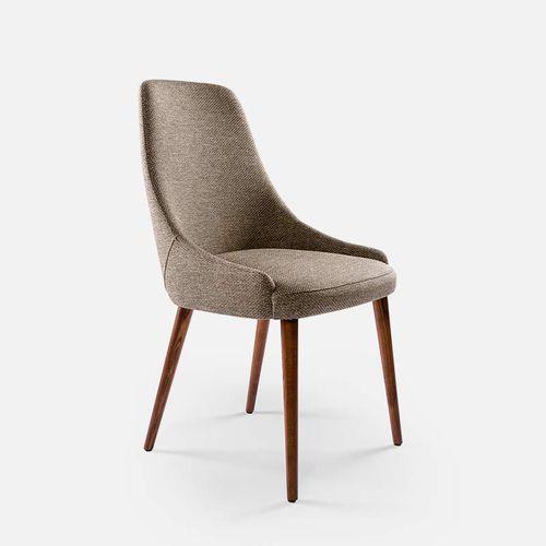 silla moderna / tapizada / de tejido / de fresno