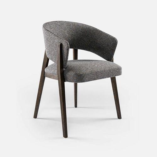silla moderna / de tejido / de haya / de roble
