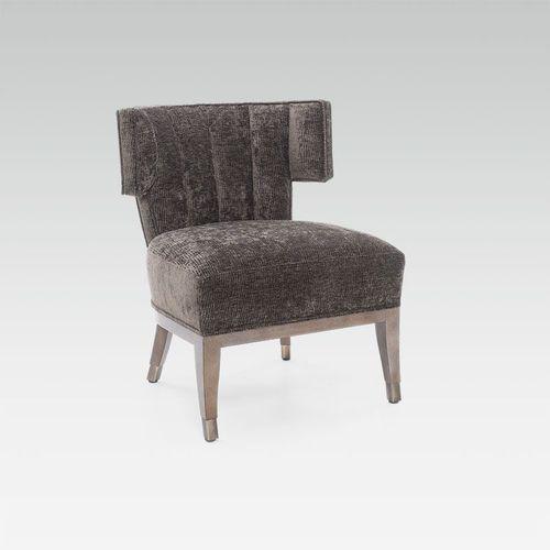 sillón bajo moderno / de tejido / de haya / a medida