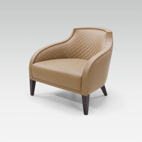 sillón moderno / de tejido / de cuero / de haya
