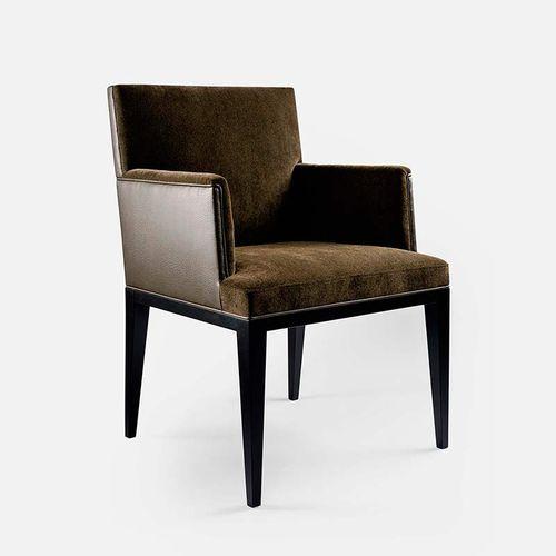 silla moderna / con reposabrazos / de tejido / de haya