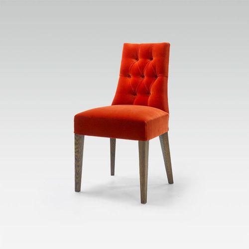 silla moderna / a medida / de tejido / de haya