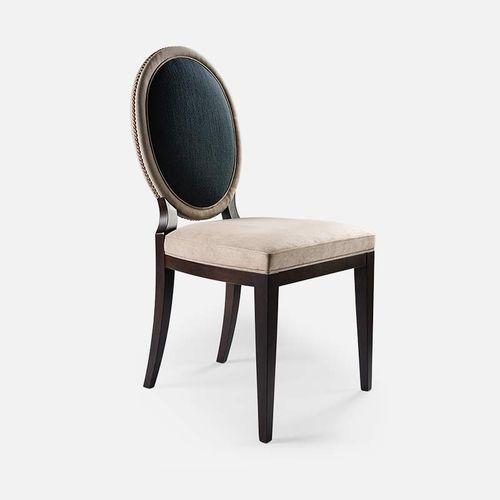 silla clásica / medallón / de tejido / de haya