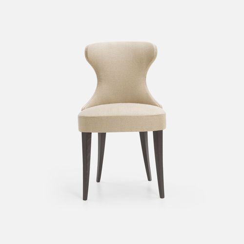 silla de restaurante clásica / tapizada / de haya / de tejido