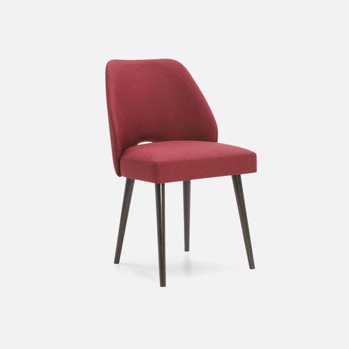 silla de restaurante moderna / tapizada / de haya / de cuero