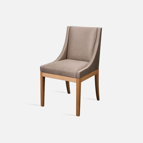 silla de restaurante moderna / tapizada / con reposabrazos / de tejido