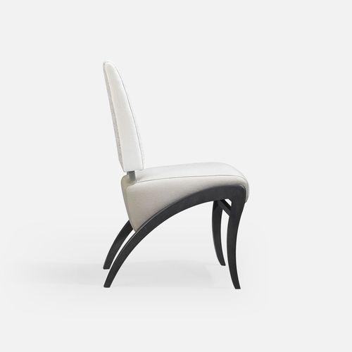 silla de restaurante clásica / tapizada / de cuero / de tejido