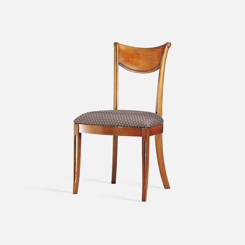 silla de restaurante clásica / tapizada / con reposabrazos / con cojín amovible
