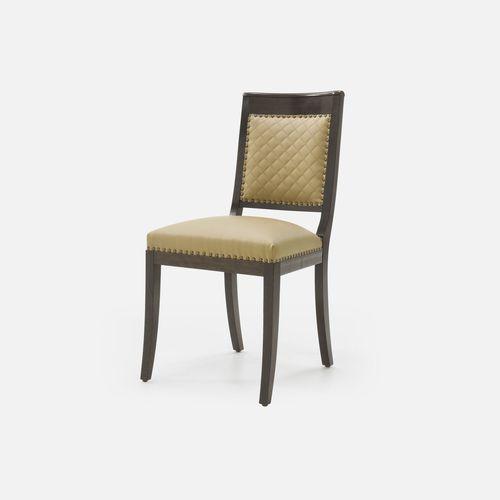 silla de restaurante clásica / tapizada / con reposabrazos / de tejido