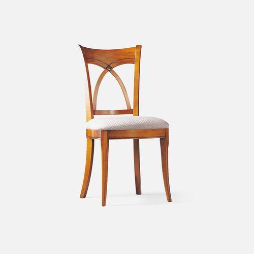 silla de restaurante clásica / tapizada / con cojín amovible / de tejido