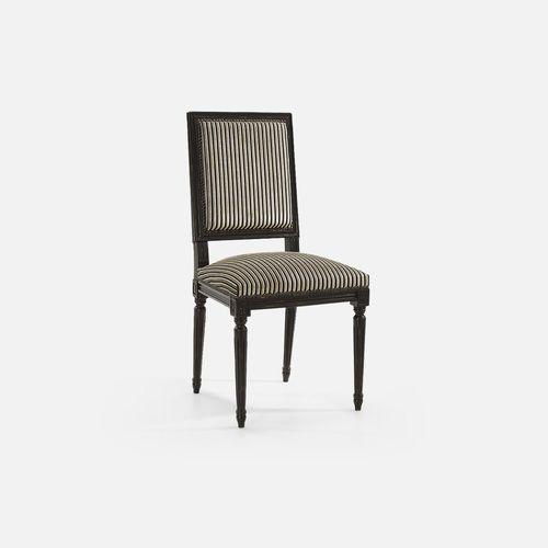 silla de restaurante de estilo / tapizada / con reposabrazos / de haya