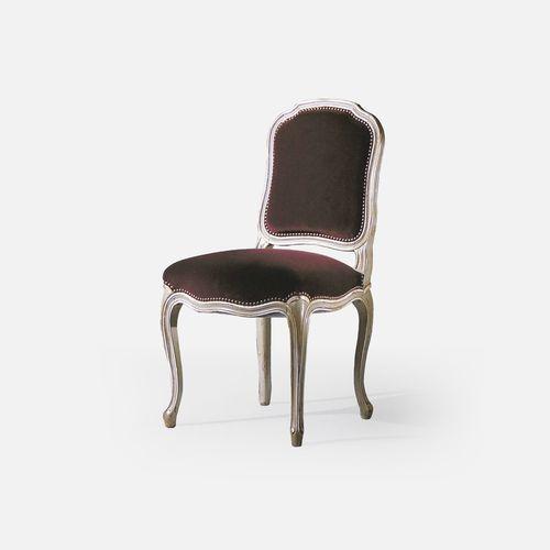 silla de restaurante Luis XV / tapizada / de haya / de tejido