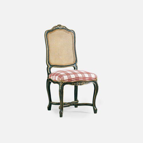 silla de restaurante Luis XV / tapizada / de tejido / de haya
