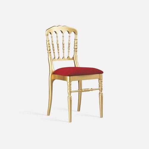 silla de conferencia tapizada / apilable / de tejido / de haya