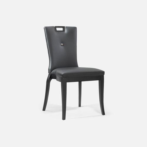 silla de conferencia tapizada / apilable / de tejido / de cuero
