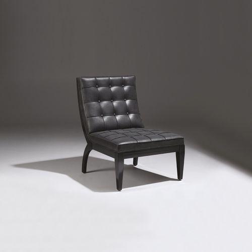 sillón bajo moderno / de tejido / de cuero / para el sector servicios