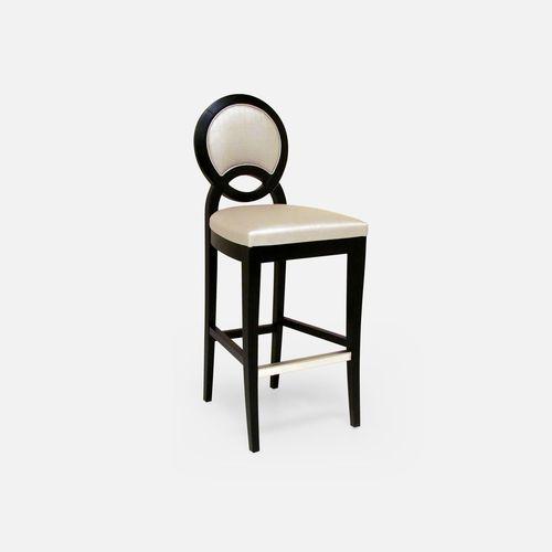 silla de bar moderna / tapizada / con reposapiés / medallón