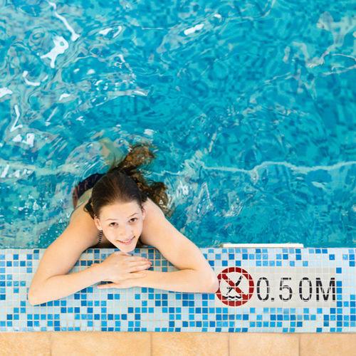 mosaico para piscina / para suelo / de vidrio / con motivos