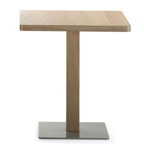 mesa bistró moderna / de metal / de roble / redonda