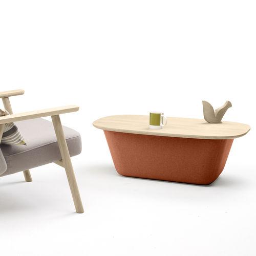 mesa de centro moderna / de cuero / de tejido / de roble