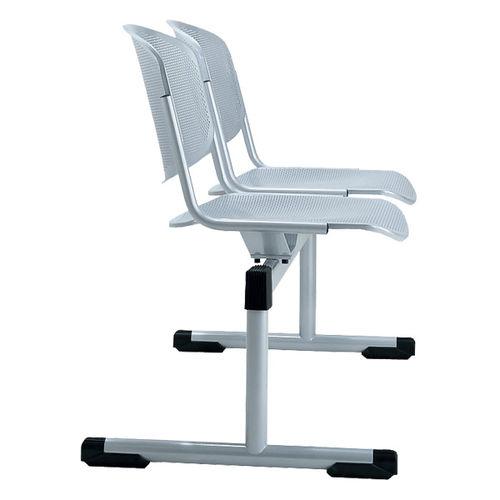 Hileras de sillas de acero / 2 plazas / de interior TYPO by Gerd Rausch BRUNE Sitzmöbel GmbH