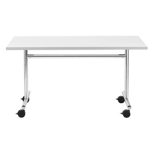 Mesa moderna / de acero / rectangular / para edificio público 4395 BRUNE Sitzmöbel GmbH