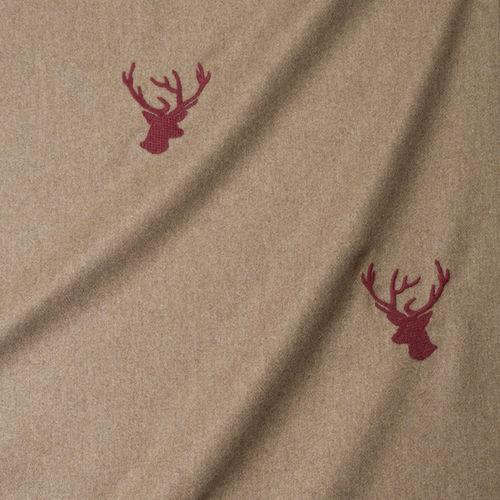 tela de tapicería / con motivos animales / de lana / contract