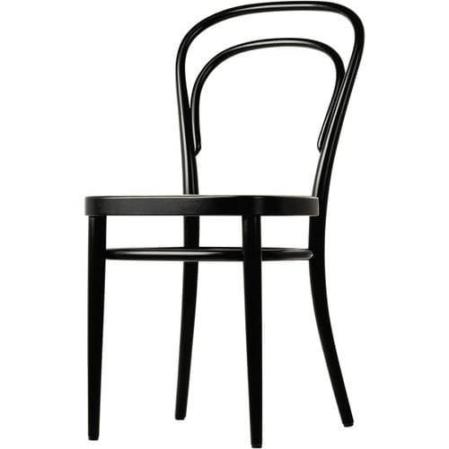 silla clásica / bistró / de tejido / de madera curvada