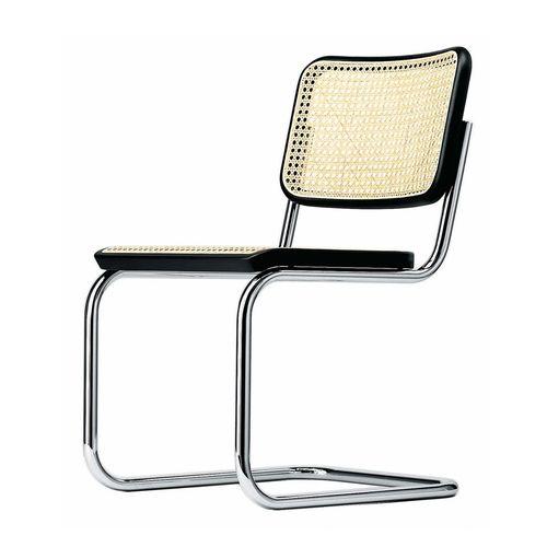 silla moderna / con reposabrazos / tapizada / cantilever