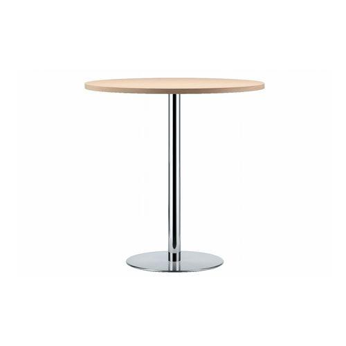 mesa alta moderna / de madera / de material laminado / de acero inoxidable