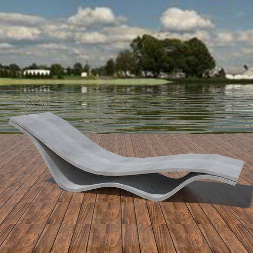 Chaise longue de diseño minimalista / de hormigón de alto rendimiento / de exterior / para espacio público FLOW: CHAISE by João Seco Amop Synergies