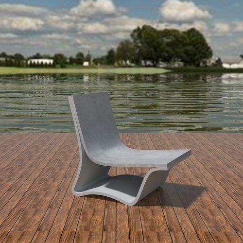 Chaise longue de diseño minimalista / de hormigón de alto rendimiento / de jardín / para piscina FLOW: LOUNGE by João Seco Amop Synergies