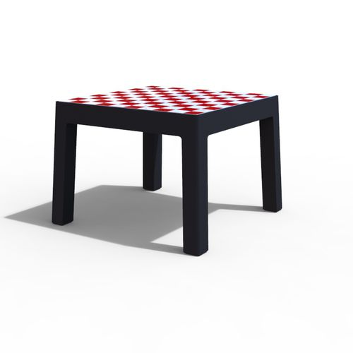 mesa de pícnic clásica / de hormigón / cuadrada / para espacio público