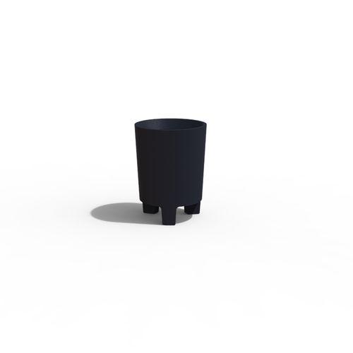 cubo de basura público / de hormigón / moderno