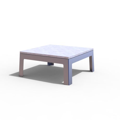 Mesa de centro / moderna / de acero / rectangular LUGARCOMUM: STEEL COFFE TABLE by Linha Branca Amop Synergies