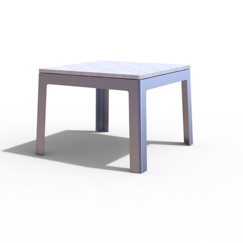 Mesa de pícnic moderna / de metal / de hormigón / rectangular LUGARCOMUM: STEEL TABLE by Linha Branca Amop Synergies