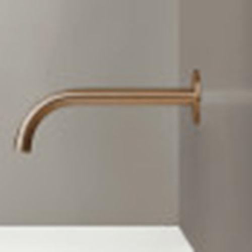 caño para lavabo acero inoxidable / de cobre