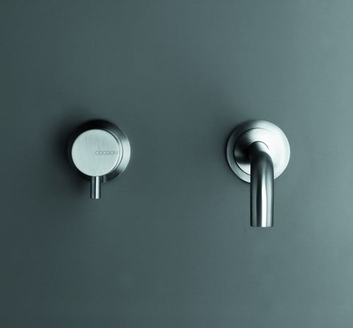 Grifo monomando para lavabo / de pared / de acero inoxidable / para baño MONO SET01 COCOON