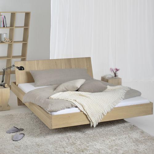 cama flotante / de matrimonio / de diseño original / con cabecero