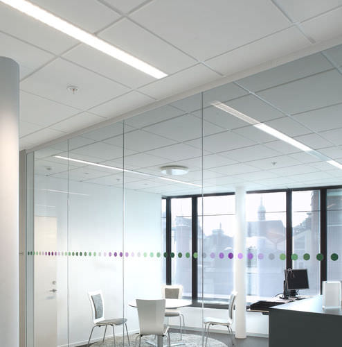 aislante acústico / de lana de roca / para interior / para techo