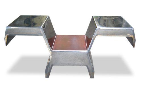 Silla de diseño original / con reposabrazos / con mesita / con cojín amovible INVADER  ICI ET LA
