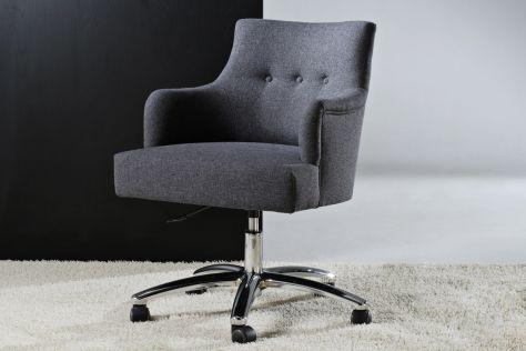 sillón de oficina moderno / de textil / giratorio / con ruedas
