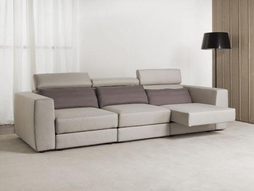 sofá moderno / de tejido / reclinable