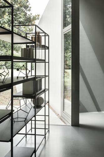 estantería moderna / de madera / de metal / de madera pintada