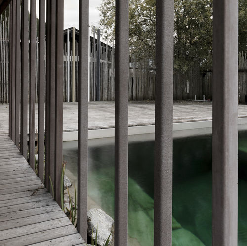 revestimiento de fachada de hormigón reforzado con fibra / liso / de panel