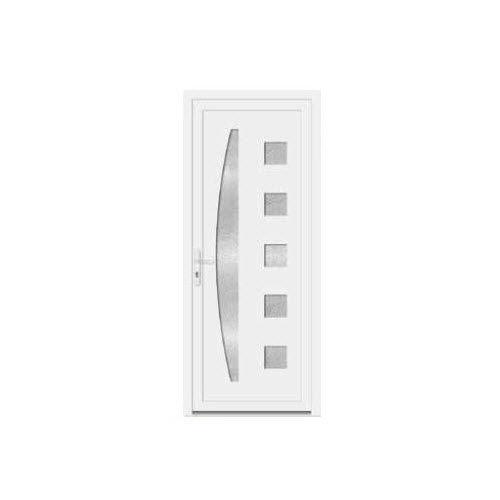 puerta de PVC / de entrada / abatible / de metal