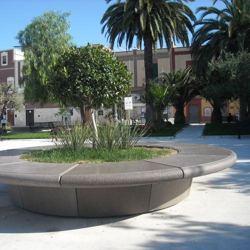 Jardinera de mármol / de piedra natural / redonda / moderna COROLLA BELLITALIA