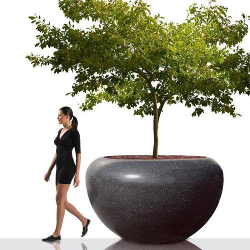 Jardinera de mármol / de piedra natural / redonda / moderna MARTE BELLITALIA
