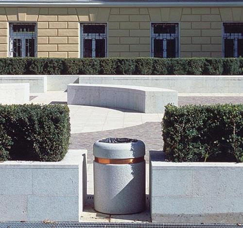 Cubo de basura público / de acero inoxidable / de acero / de cobre SORRENTO  BELLITALIA