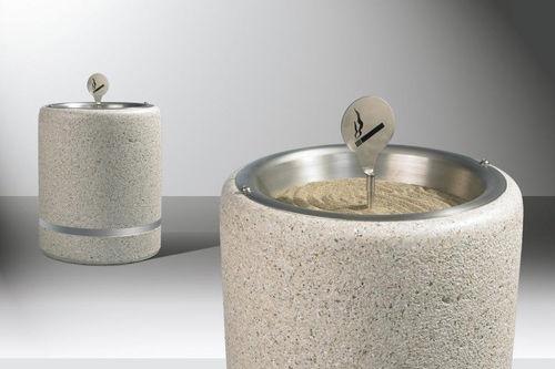 Cenicero pie bancada / de acero inoxidable / de piedra reconstituida / Bakelite® CRONO BELLITALIA
